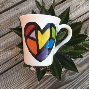 One-Of-A-Kind Heart Cup Mug Handcrafted